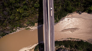 川の空中写真