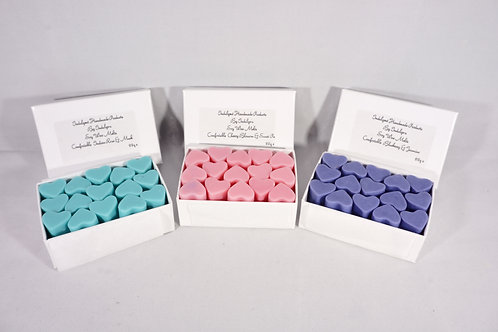 15 Handmade Mini Mini Heart Soy Wax Melts Inspired By Comfort & Lenor Fragrances