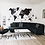 Thumbnail: 3D Multilayered World Map Color Black