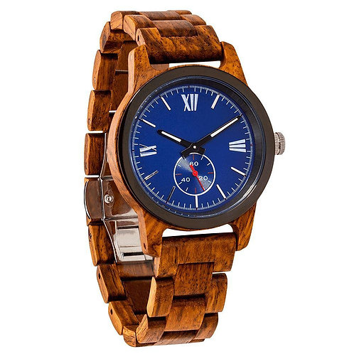 Men's Handcrafted Ambila Wood Watch - Best Gift Idea!
