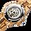Thumbnail: Men's Genuine Automatic Zebra Wooden Watch
