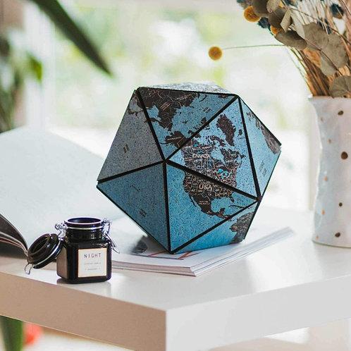 Cork World Icosahedron Blue