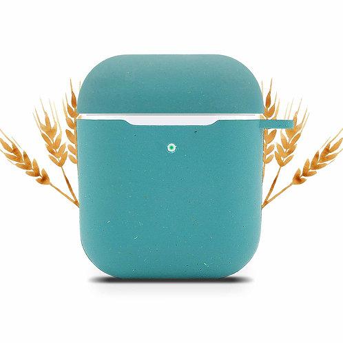 Etui pour Oreillettes AirPod (Apple) biodégradable - Bleu Océan