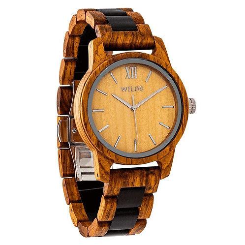 Men's Handmade  Ambila Wooden Timepiece