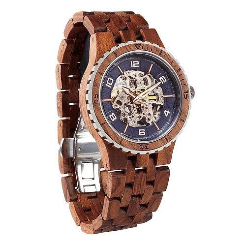 Men's Premium Self-Winding Transparent Body Kosso Wood Watch