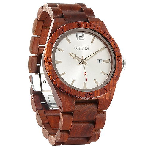 Men's Personalized Rosewood Watch