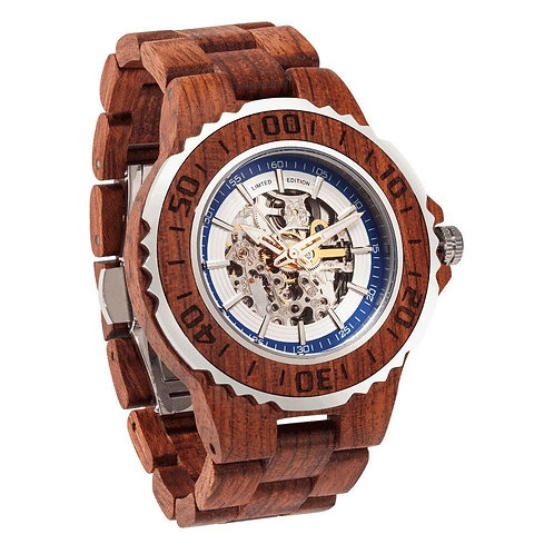 Men's Genuine Automatic Kosso Wooden Watch