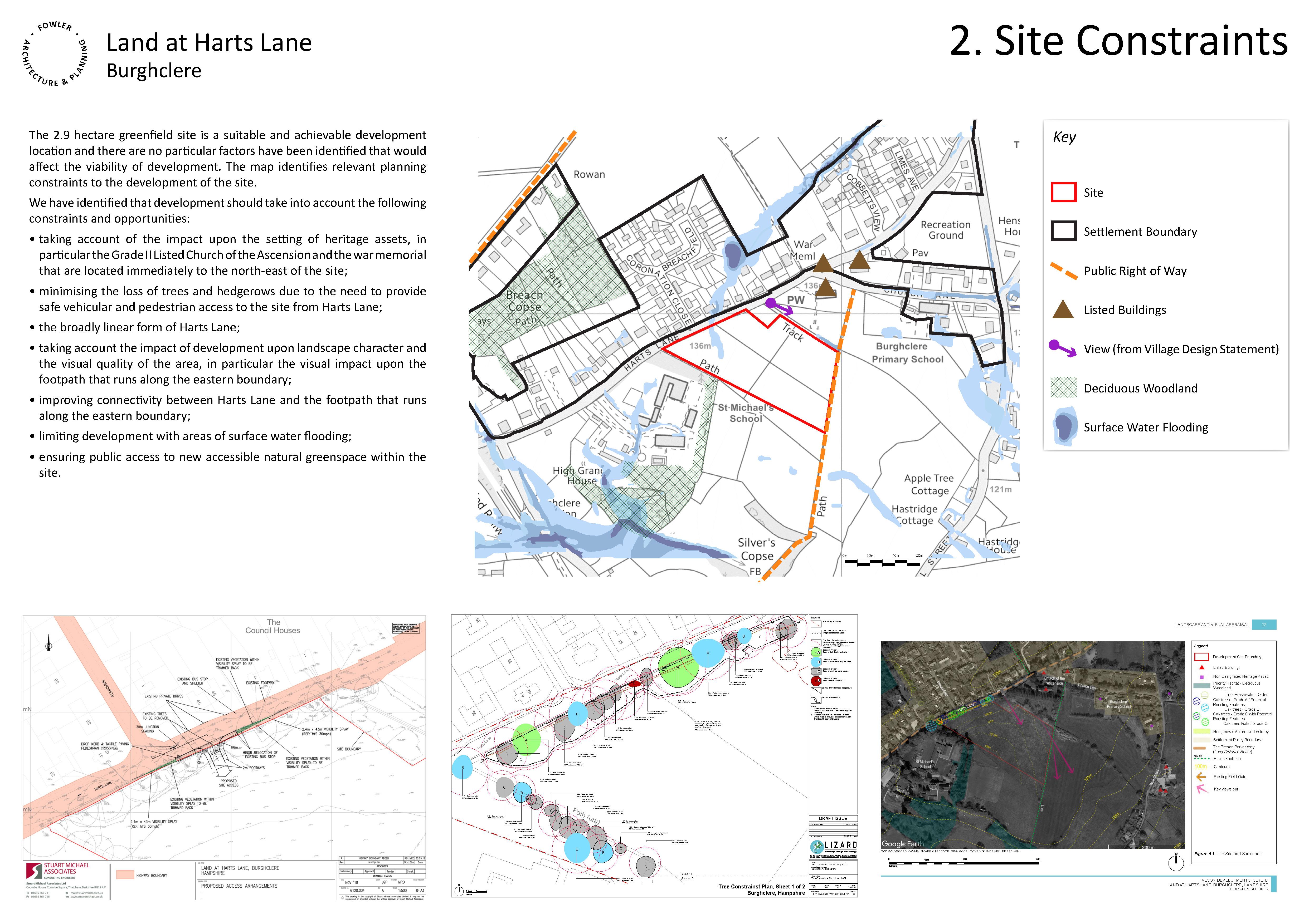 Land at Harts Lane, Burghclere - Board 2