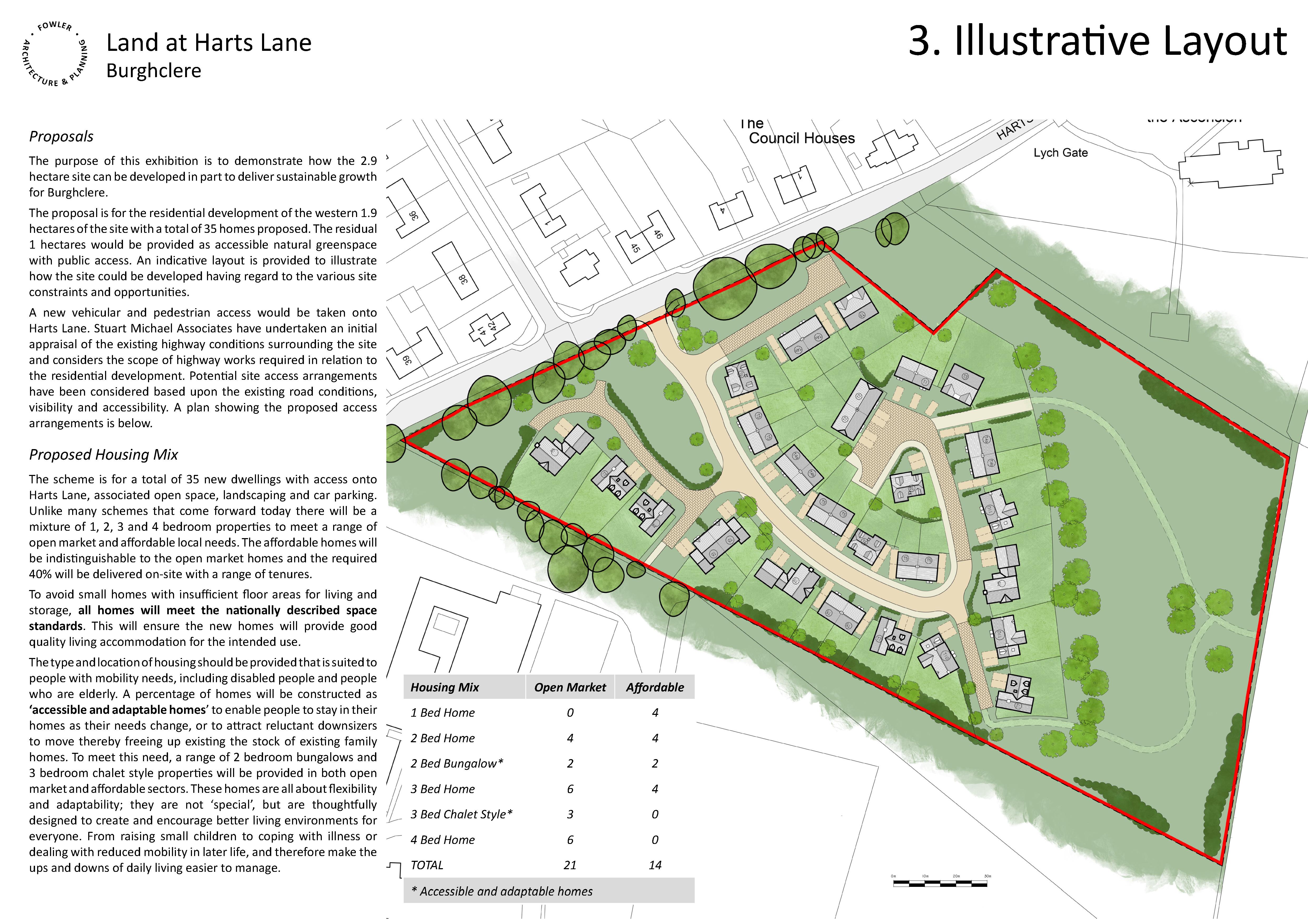 Land at Harts Lane, Burghclere - Board 3