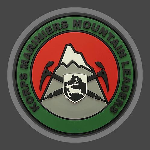 Rubberen Patch gekleurd Mountain Leader incl verzendkosten