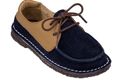 Sapato Infantil Dominó Camurça Bleu/ Caramelo