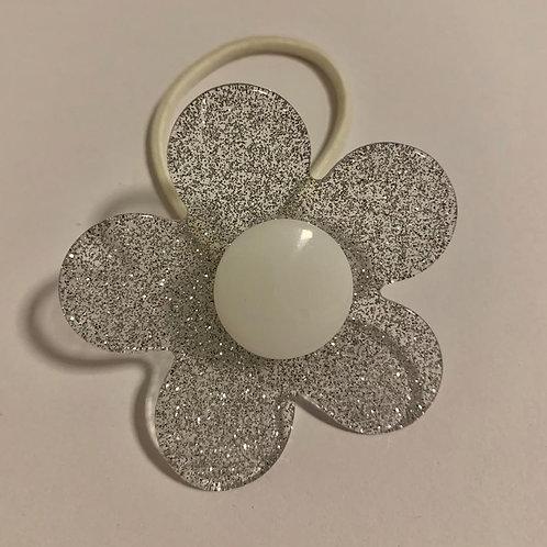Elástico Flor Branca