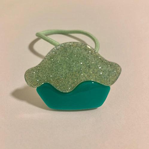 Elástico bolinho verde