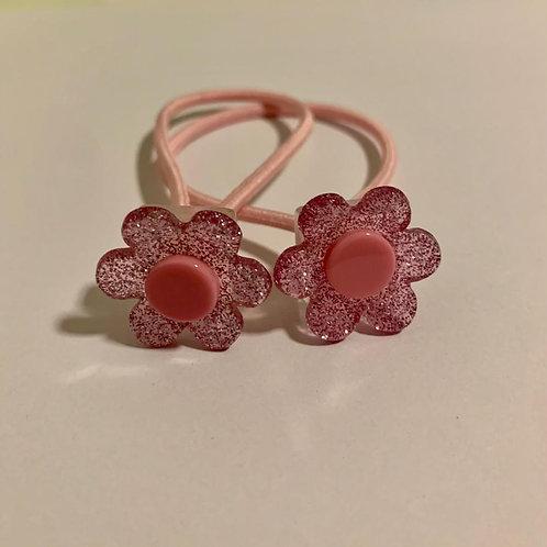 Par elástico florzinhas rosas