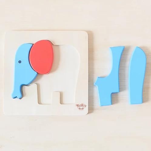 Mini quebra-cabeça elefante
