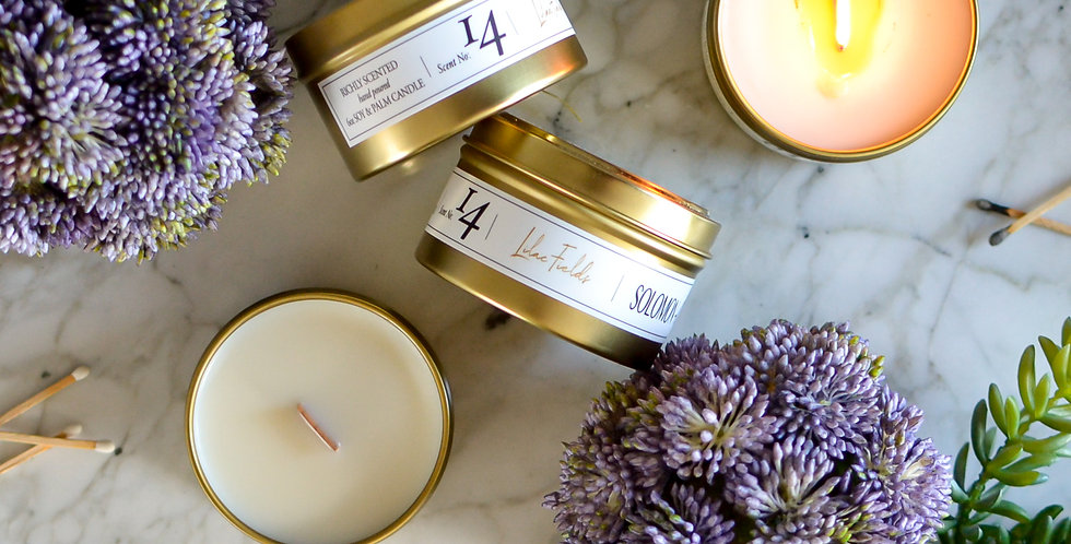 Lilac Fields 6oz Soy Candle Tin