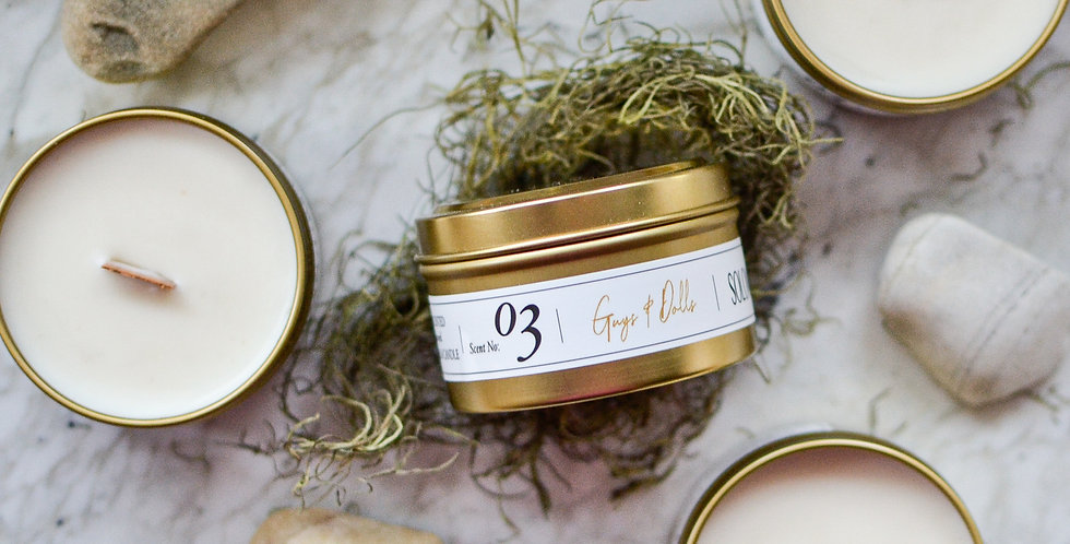Guys and Dolls 6oz Soy Candle Tin