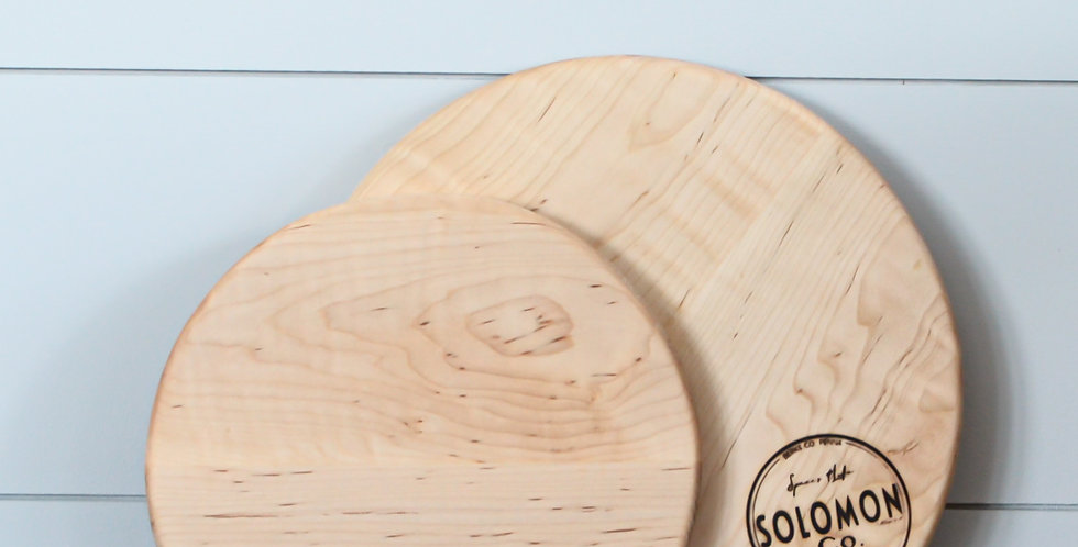 Small Round Maple wood Serving Board