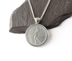 naked man coin necklace