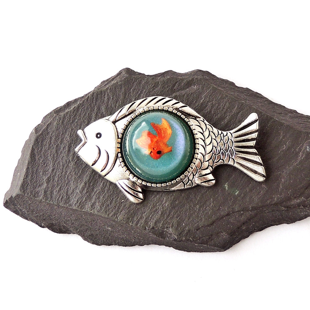 goldfish brooch