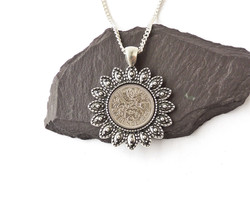 1959 sixpence necklace