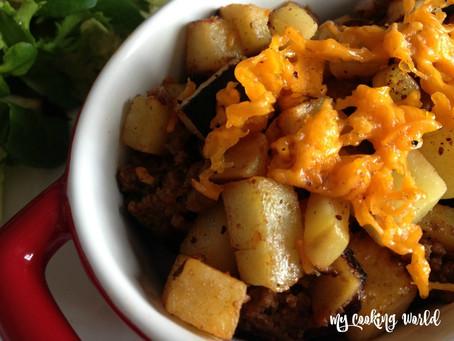 Gratin de patate douce, viande et raisins secs - 19 Septembre 2016