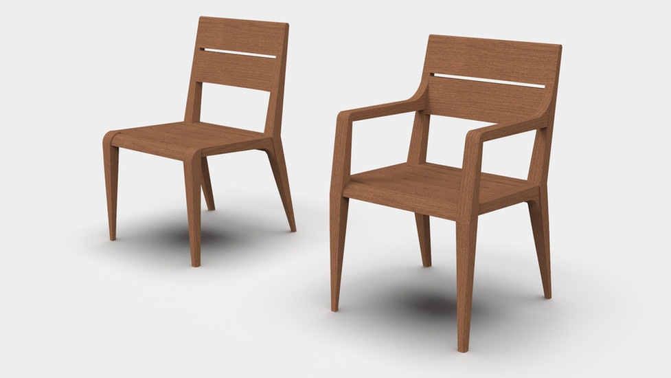 Edge Chair and Armed Version