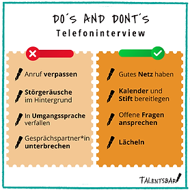 Telefoninterview, Bewerbungsprozess, Dos and Donts