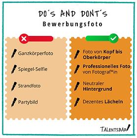 Bewerbungsfotos Dos and Donts