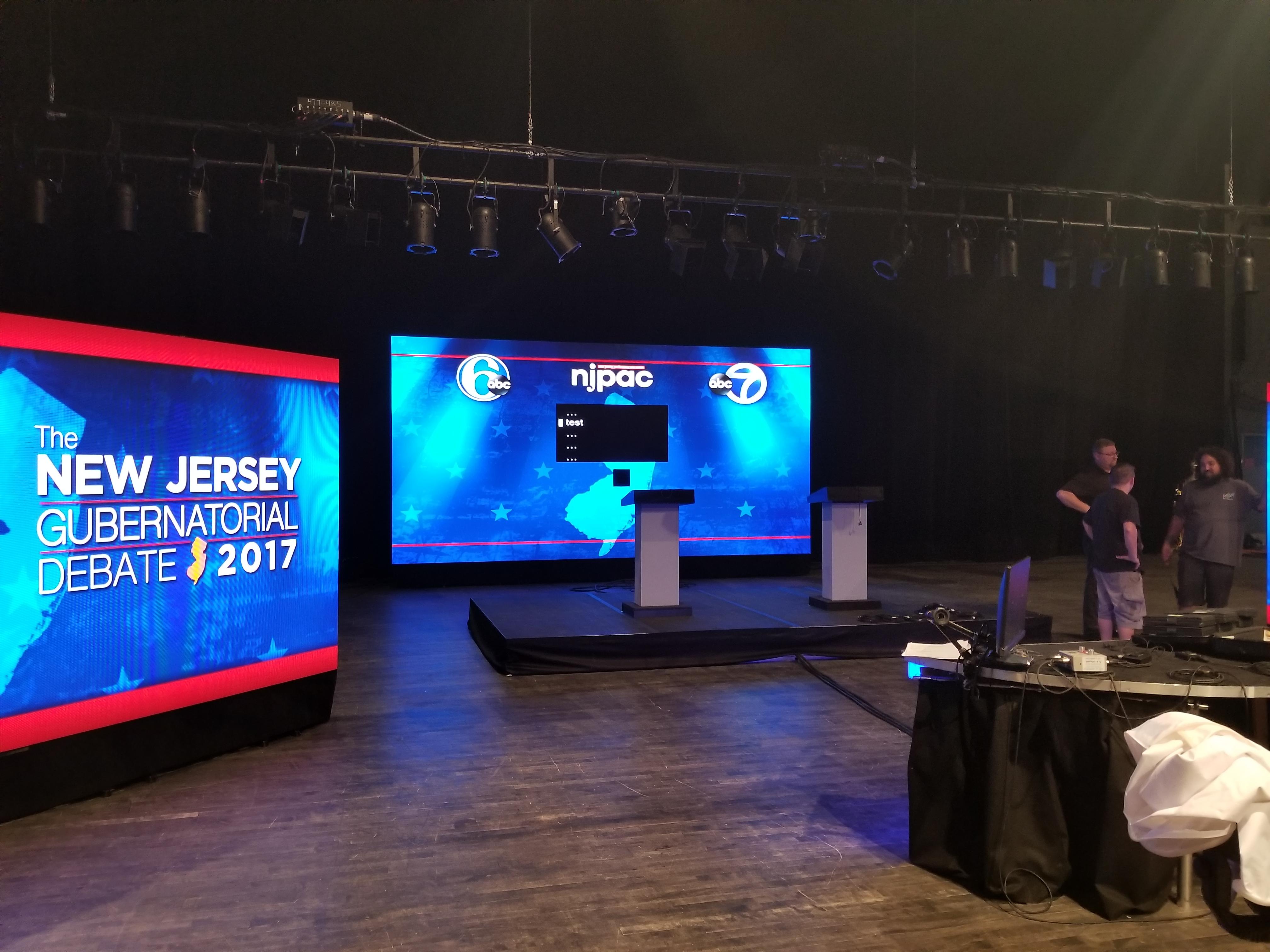 3.9mm for Broadcast of the NJ Gubernatorial Debate 2017