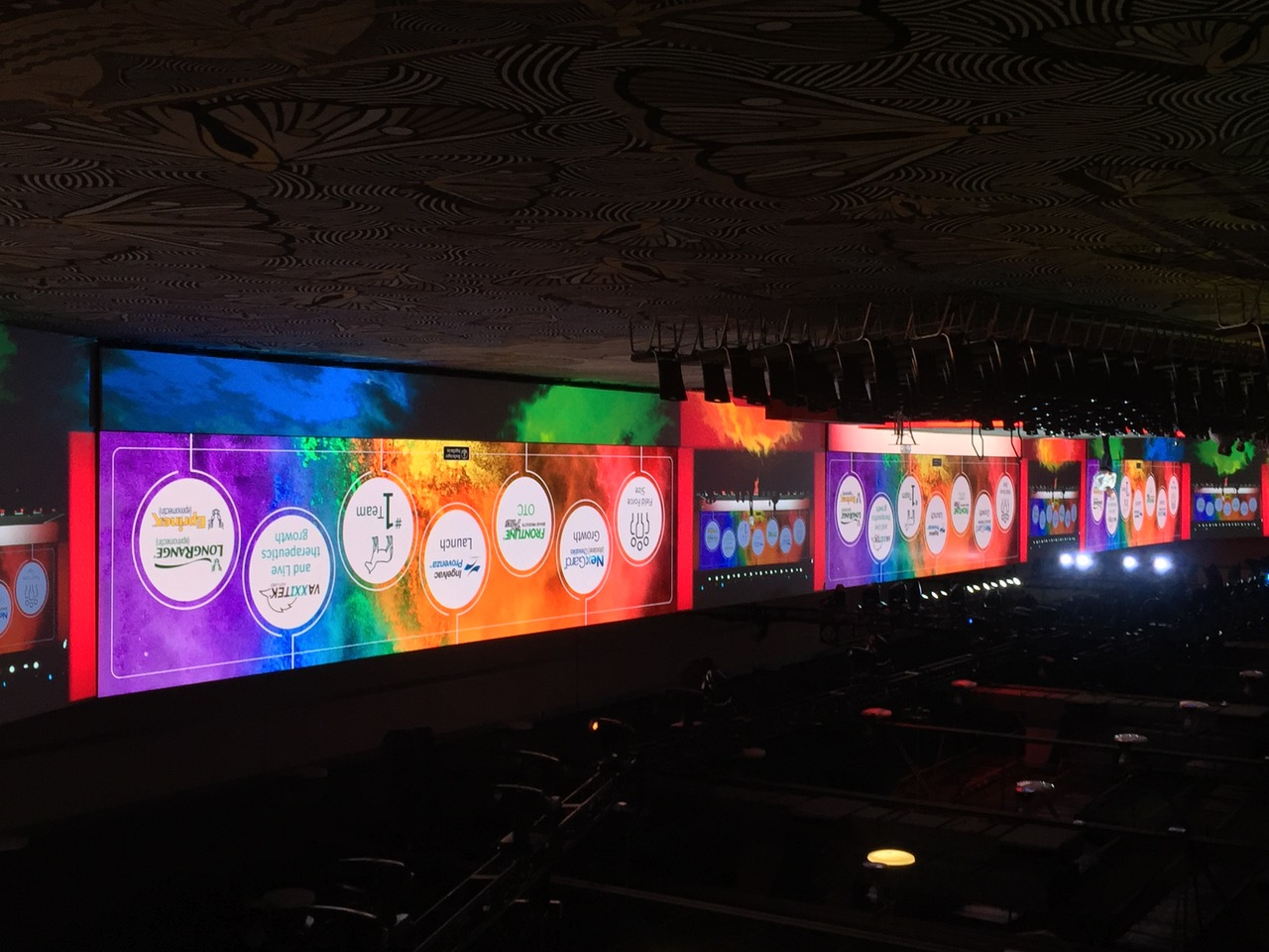 3) 50' x 12' 3.9mm LED Walls with Projection Surround