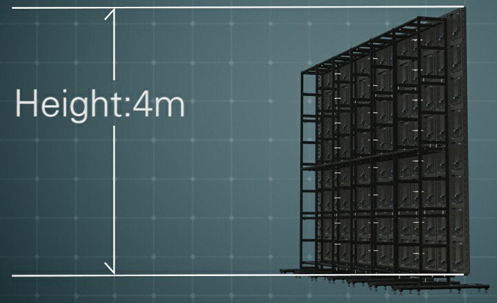 Rear Animation of 4m Tall Ground Stack
