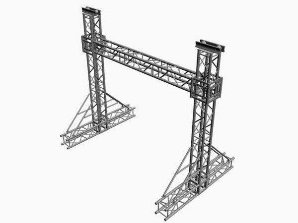 Goal Post Truss 3D Model