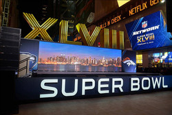 7mm LED Video Wall SuperBowl 2014