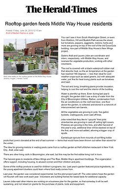 Herald Times Article - Rooftop Garden.jp
