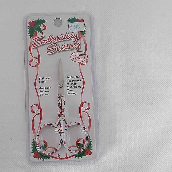 Borduurschaartje 9.6 cm met kerstmotief