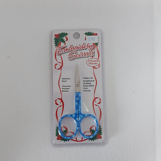 Borduurschaartje 9.6 cm kerstmotiefje