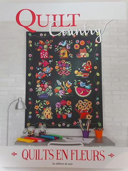 """Quilt Country no.65 """"Quilts en fleurs """""""