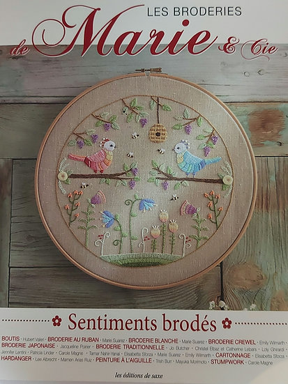 """Marie & Cie """" sentiments brodes """""""