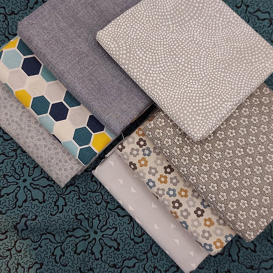 Stofbundel Grey and Teal