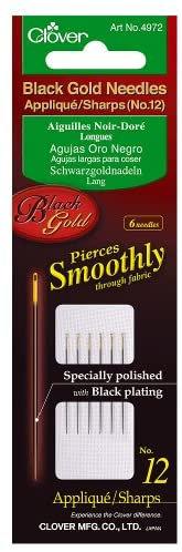 Applique needles Black Gold