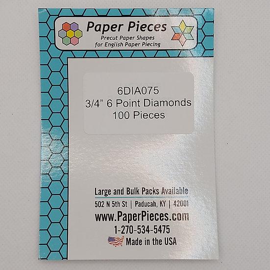 6 Point Diamond 3/4 inch