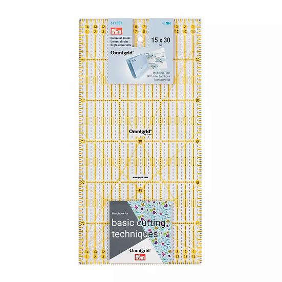 Liniaal 15 x 30 cm Omnigrid