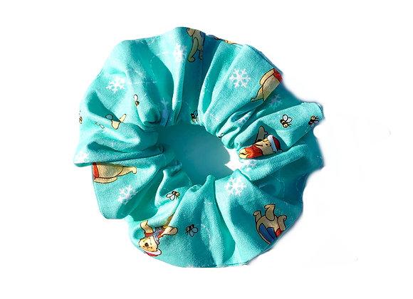 Pooh Bear Christmas- Scrunchie