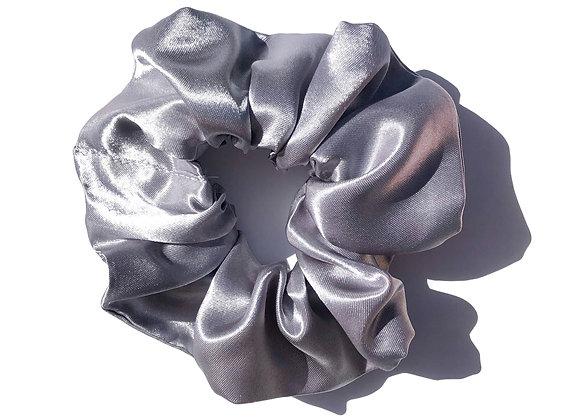 Steel- Satin Scrunchie