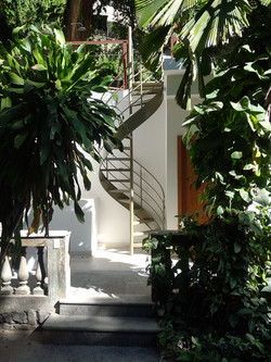 Staircase up to the roof terrace
