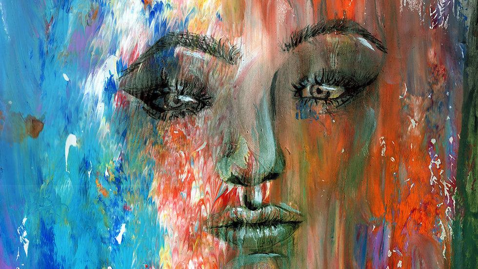 """Sleepless"" Original Painting by artist: Tori Michelle Carter"