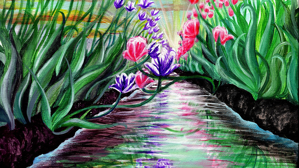 """""""Tulip Festival"""" by artist: Tori Michelle Carter"""