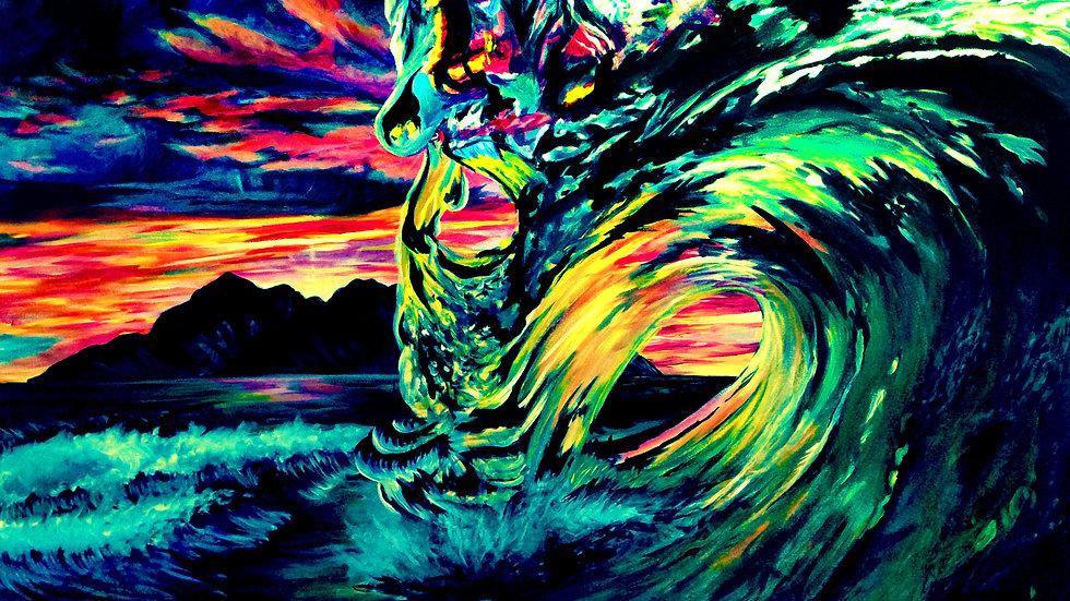 """""""Ocean Waves"""" by artist: Tori Michelle Carter"""