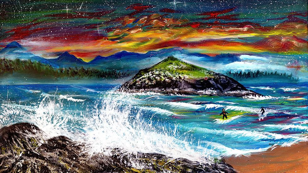 """Incinerator Rock"" by artist: Tori Michelle Carter"